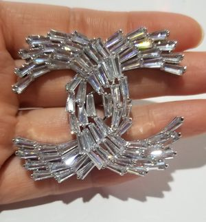 Chanell Cz diamond Pin brooch for Sale in Austin, TX