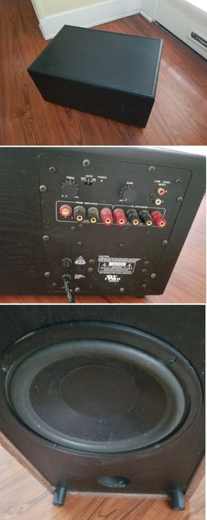 200w 10 inch powered subwoofer speaker for home stereo system theater surround sound for Sale in Long Beach, CA