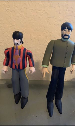 Beetles yellow submarine action figures (Ringo, and George) for Sale in Miami, FL