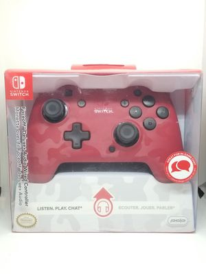 PDP Faceoff Deluxe+ Audio Wired USB Controller for Switch - Red Camo for Sale in La Jolla, CA