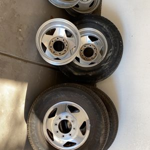 F-350 Aluminum Dually Wheels for Sale in Denver, CO