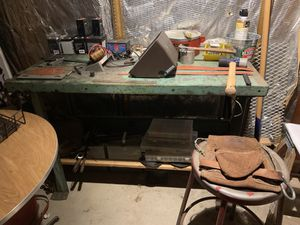 ANTIQUE Metal Shop Table SOLID for Sale in Galloway, OH
