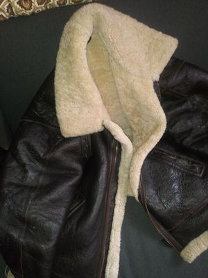 Shearling leather jacket for Sale in Garden City, NY