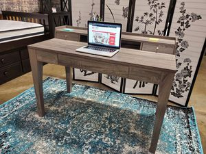 Computer Writing Desk 3 Drawers and 1 Shelf, Distressed Grey Finish, SKU 172062 for Sale in Fountain Valley, CA