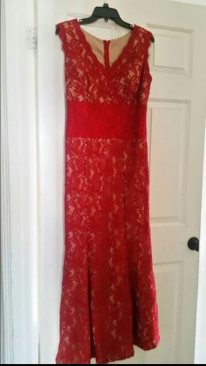 Red lace dress/Gown for Sale in Covina, CA
