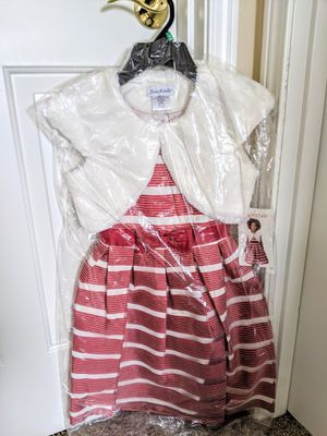 Jona Michelle Toddler Dress with Vest - Red/White - Size 8T for Sale in Auburn, WA