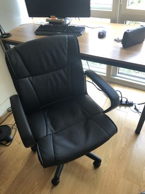 Black leather office chair for Sale in New York, NY