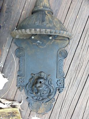 Very heavy cast-iron wall fountain piece for Sale in Dunedin, FL