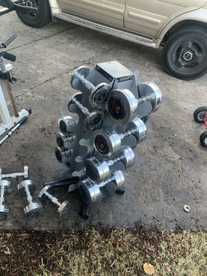 Weider Chrome Dumbell set with rack for Sale in The Colony, TX