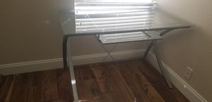 Glass computer desk with gray accent for Sale in Coral Springs, FL
