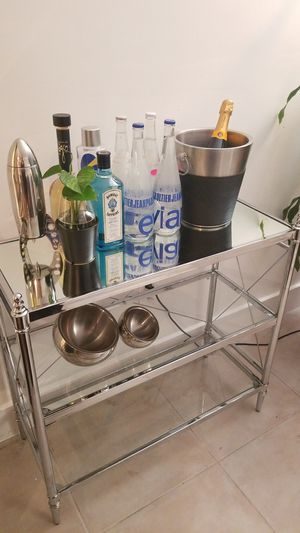 Console Etagere - Glass shelves/Bar for Sale in Fort Lauderdale, FL