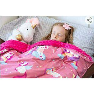 Sweetzer & Orange Weighted Blanket yawning Unicorns printed Kinky Cover for Sale in Phoenix, AZ