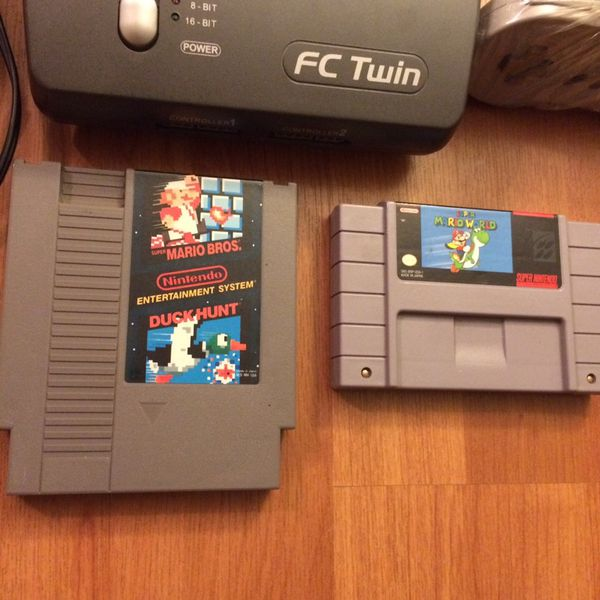 FC TWIN - NES & SNES Console w/ 2 Mario Games for Sale in Monroe Township,  NJ - OfferUp