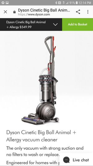 Dyson cinetic big ball animal + allergy vacuum for Sale in Pembroke Pines, FL