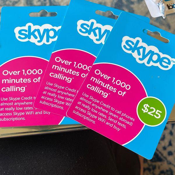 3 25$ Skype Calls For 60$