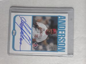 Autographed Topps Garret Anderson Angel's Baseball Card for Sale in Parma, OH