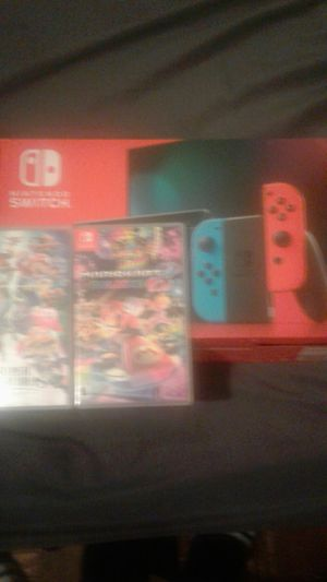 nintendo switch with games for Sale in Miami, FL