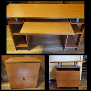 Office Furniture Set (desk, lateral file, media stand/cabinet) for Sale in Baltimore, MD