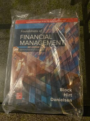 Foundations of financial management 17th edition: Author : Block Hirt Danielsen for Sale in Raleigh, NC