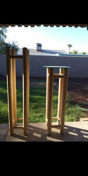 """For decor Solid Two wood decor heavy includes two glasses big 61"""" x 13"""" small 49.5"""" x 13"""" $45 big / $35 small or $60 for both for Sale in Mesa, AZ"""