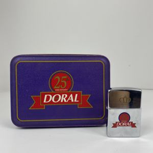 VINTAGE Zippo Lighter DORAL 25th Anniversary Only Case Free Shipping for Sale in Peoria, IL