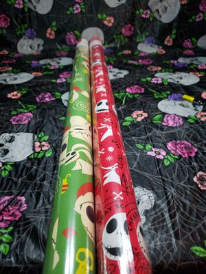 Brand New Nightmare Before Christmas Wrapping Paper 2 rolls for Sale in Bonney Lake, WA