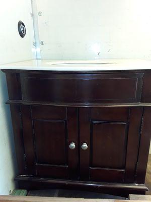 Marble top bathroom cherry wood vanity. for Sale in Williamsburg, MI