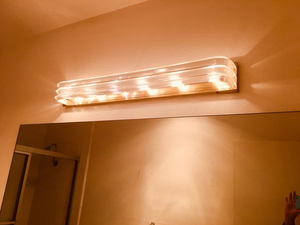Fixture for the bathroom light