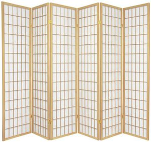 NATURAL FINISH 6 Panel Japanese room divider for Sale in Long Beach, CA