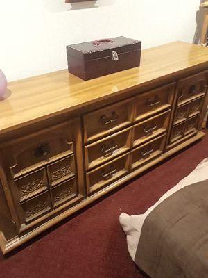 Solid wood dresser for Sale in Denver, CO
