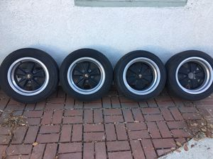 Porche alloyed rims staggered 15X7 front and 15X 8.5 rear for Sale in Whittier, CA
