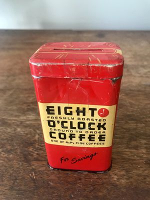 Vintage Advertising Tin Bank Eight O'Clock Coffee for Sale in Portsmouth, VA