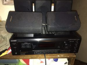 Sony receiver/ amplifier plus nice 5 Pioneer surround sound speakers. 5.1 dolly for Sale in Hayward, CA