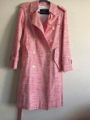 Burberry red and white coat for Sale in Irvine, CA