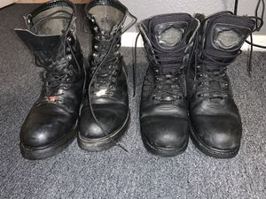 Red wing and Harley Davidson boots size9 for Sale in Jurupa Valley, CA