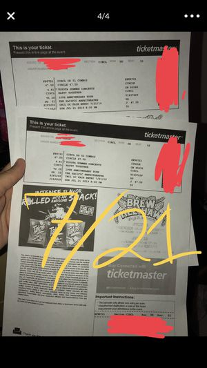 Happy Together Tour with Free Admission to the OC Fair!! for Sale in Downey, CA