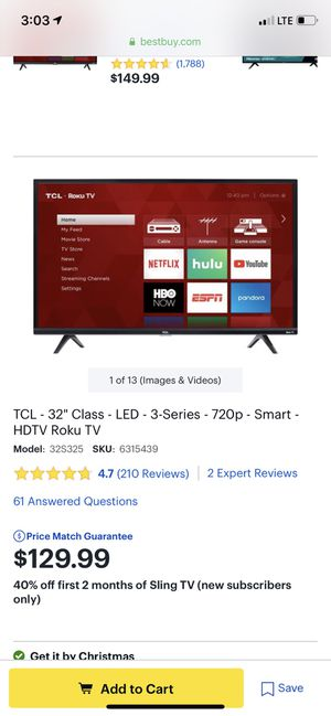 TCL Roku Tv 32 in for Sale in Jacksonville, FL