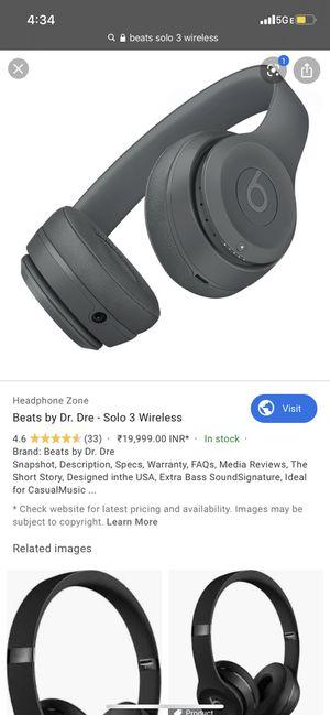 Beats solo wireless 3 for Sale in Gardena, CA