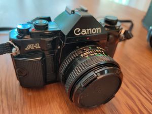 Mint Canon A-1 Camera with Many Extras and Manuals for Sale in South Windsor, CT