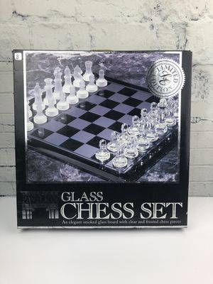Glass chess set for Sale in Ruskin, FL