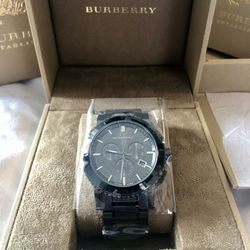 Burberry Gunmetal Gray Men's Watch NEW! NWT for Sale in Addison,  IL