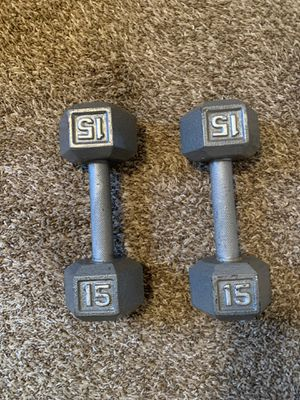 15Lbs dumbbells for Sale in Lochearn, MD
