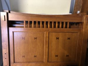 Twin bunk beds , solid wood, gently used for Sale in Pompano Beach, FL