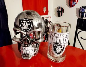 Raider Nation Custom ☠ Mask + Lg.Sz.🍺 Mug - shipping 🚚 💨 💨💨 Available Nationwide 👍💯 for Sale in Hampton, GA