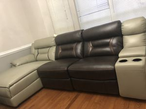 Brand new bonded leather sectional recliner priced to sell for Sale in Ashburn, VA
