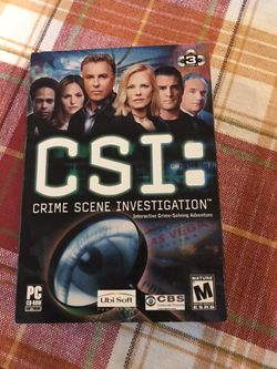 CSI Computer Game for Sale in Birmingham,  MI