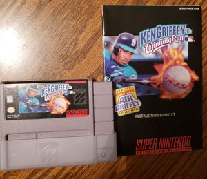 Super Nintendo Ken Griffey Jr Winning Run for Sale in Mt. Juliet, TN