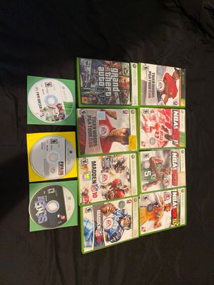Xbox 360 games used but all play just fine in my system for Sale in Anaheim, CA