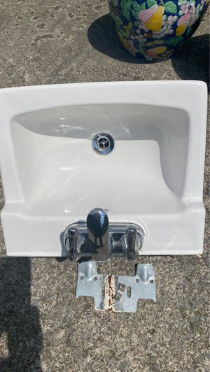 Wall sink with faucet for Sale in Fairmont, WV