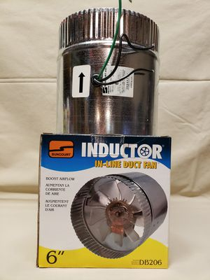 Inductor 6 inch in-line duct fan for Sale in Lewiston, ME